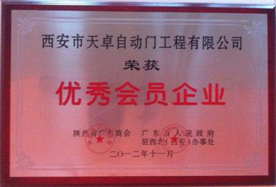 天卓铜门:陕西省广东商会优秀会员企业