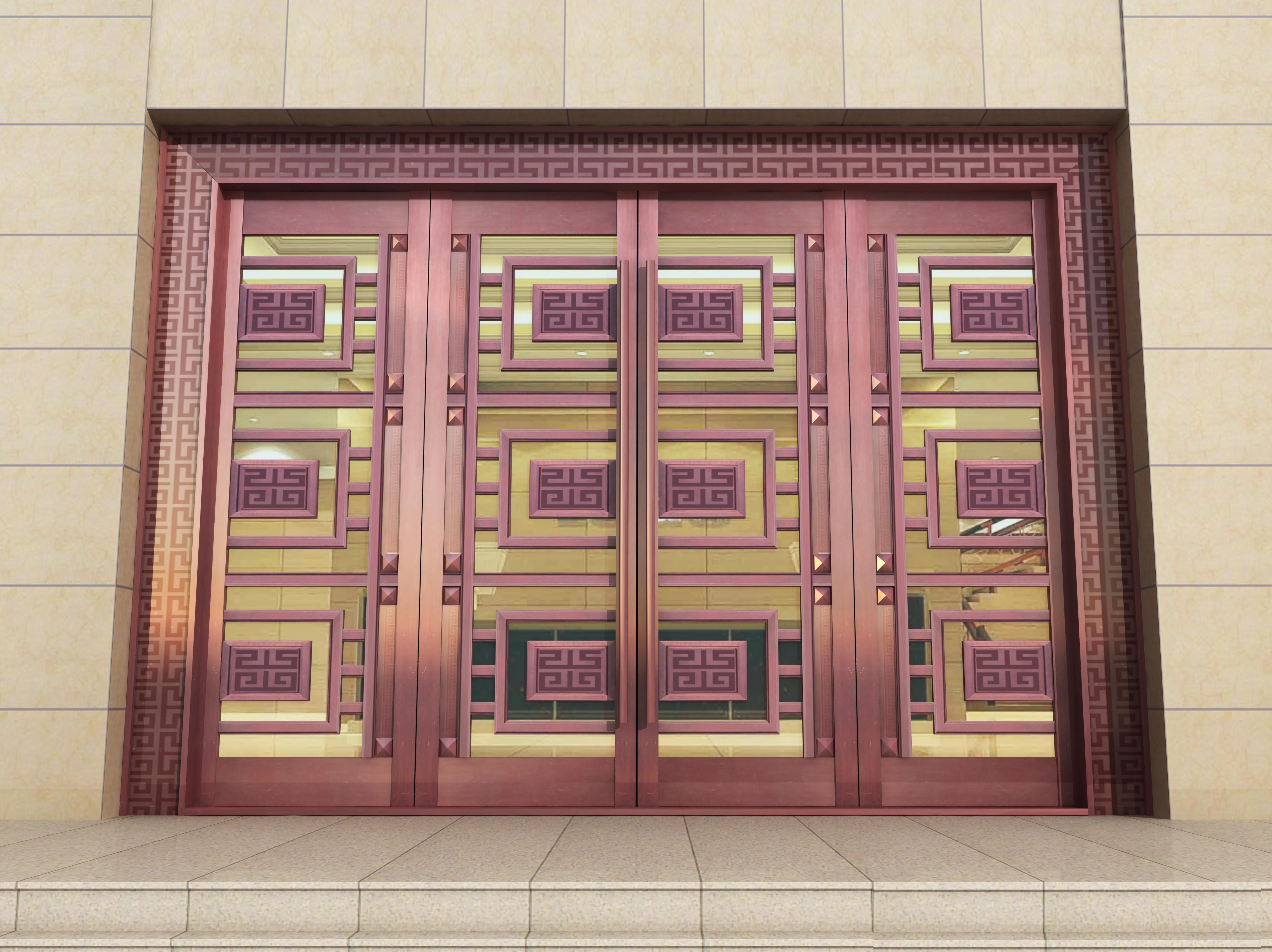 重型铜地弹门