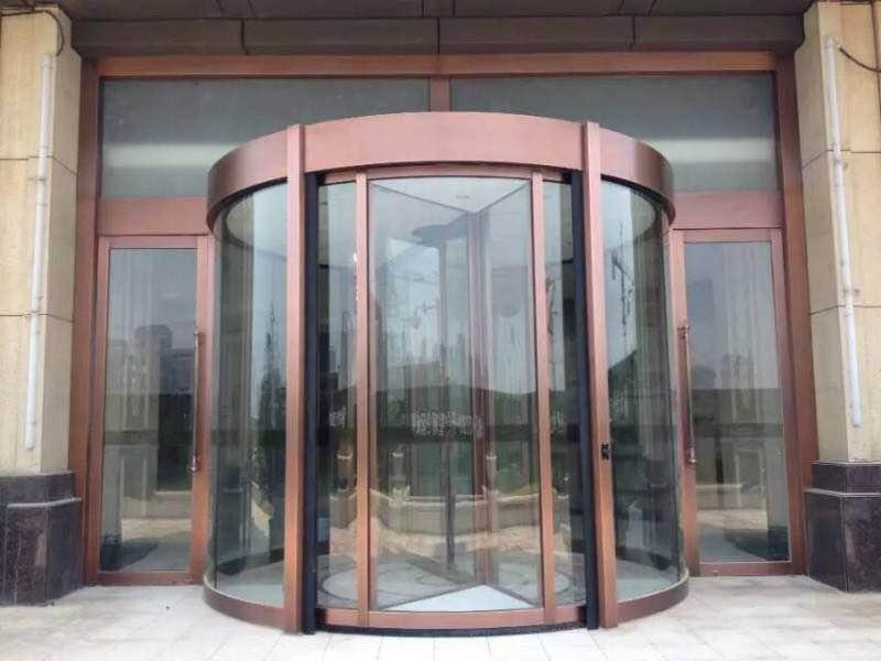 曲江大华公园世家售楼处旋转门案例
