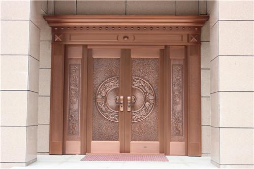 【西安铜门】旅游景点铜别墅门——九龙湾干部疗养中心