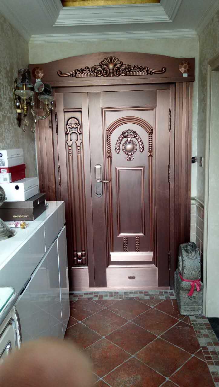 家用子母铜门