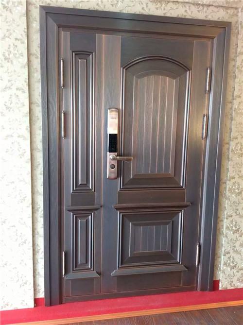 别墅子母铜门