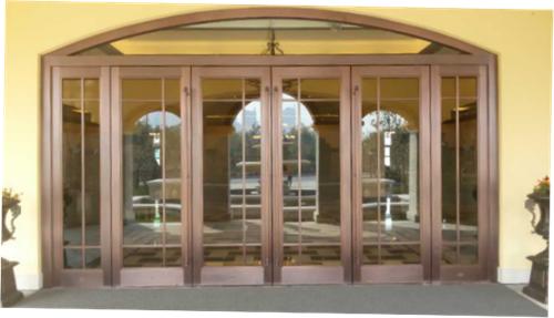 主题餐厅玻璃铜门