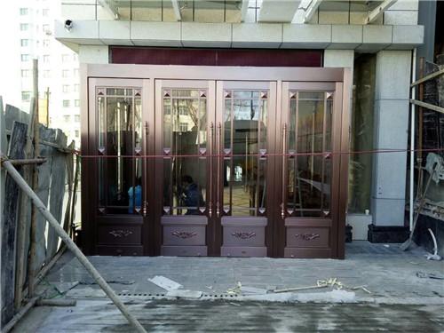 宾馆玻璃铜门