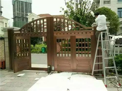 庭院对开电动铜门