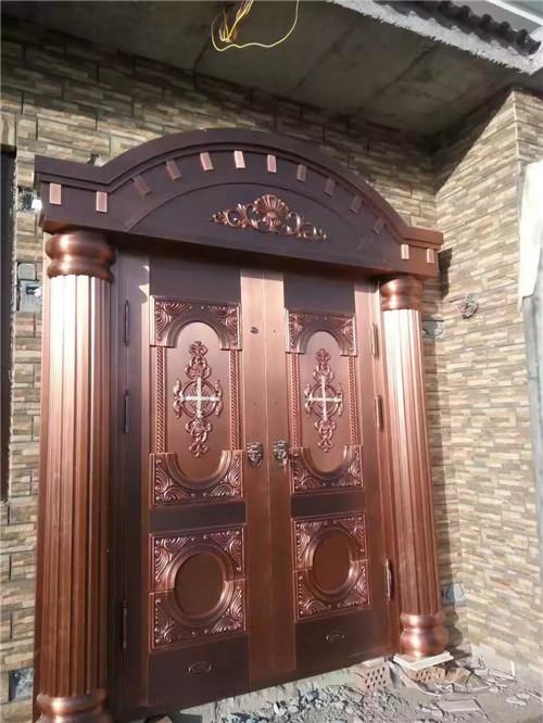 别墅双开铜门