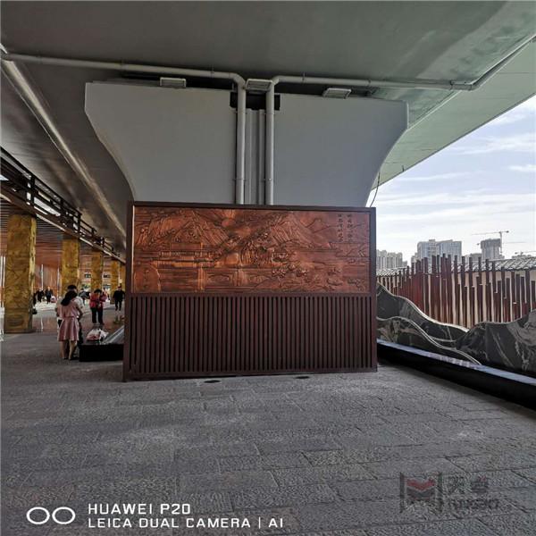 西安北客站铜浮雕工程案例