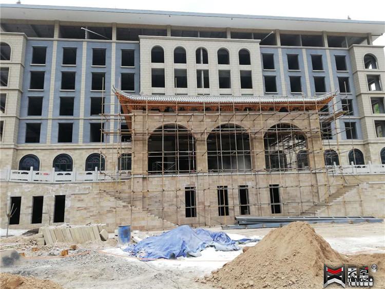 延安红星园酒店地弹复合铜门窗工程案例