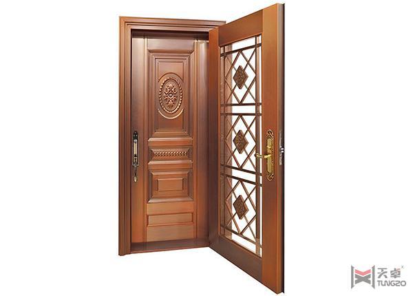 复式单开铜门