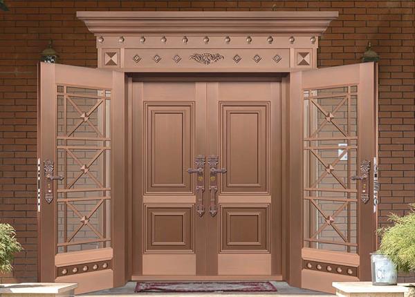 复式对开铜门