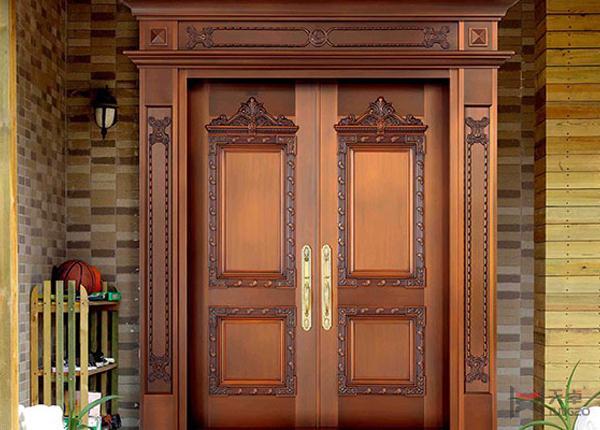对开楼宇铜门
