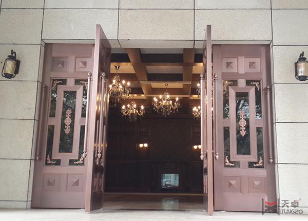 四开楼宇铜门