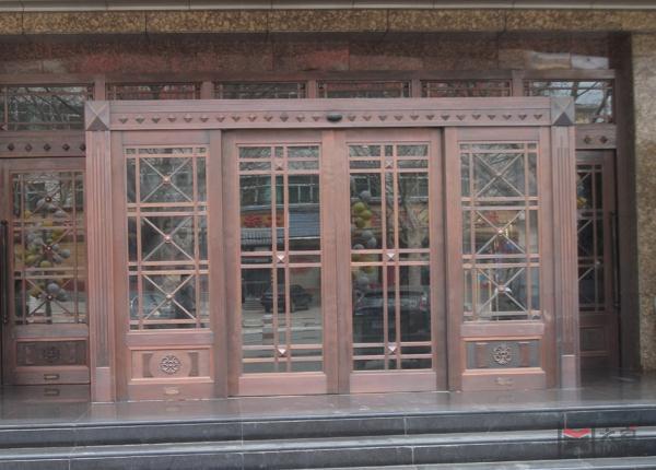 别墅玻璃铜门