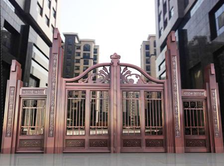 02-小区—院子铜门