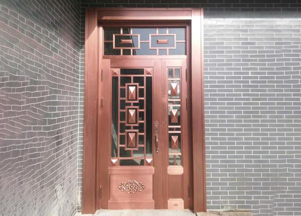玻璃子母别墅铜门