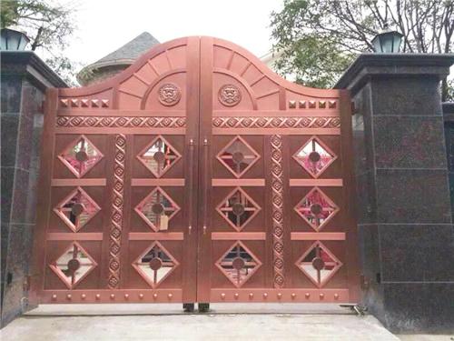 电动超大庭院铜门