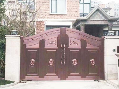 庭院门对开铜