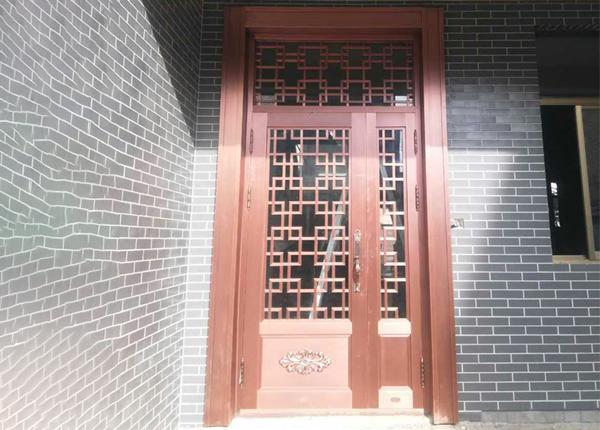 家用子母玻璃铜门
