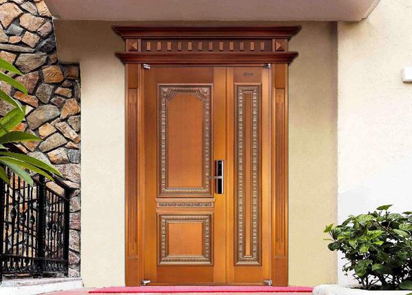 子母别墅铜门