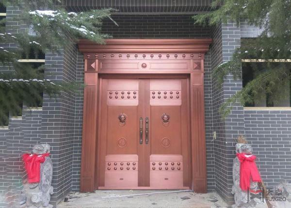 别墅对开铜门
