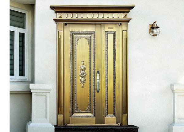 子母别墅黄铜门