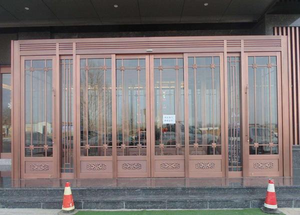 商场玻璃铜门