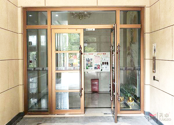 地弹玻璃单元门