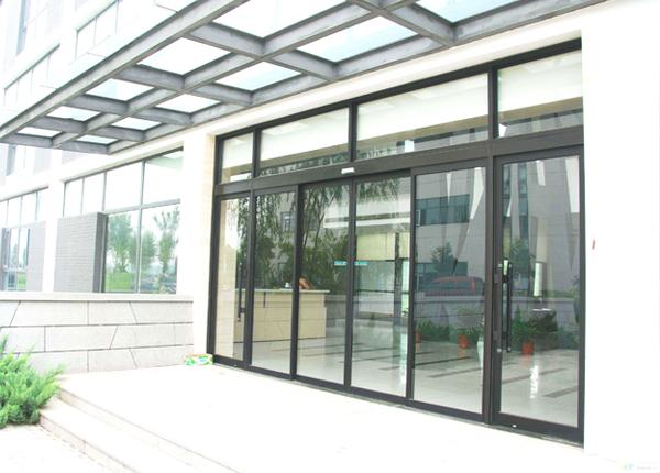 玻璃自动平移地弹组合门