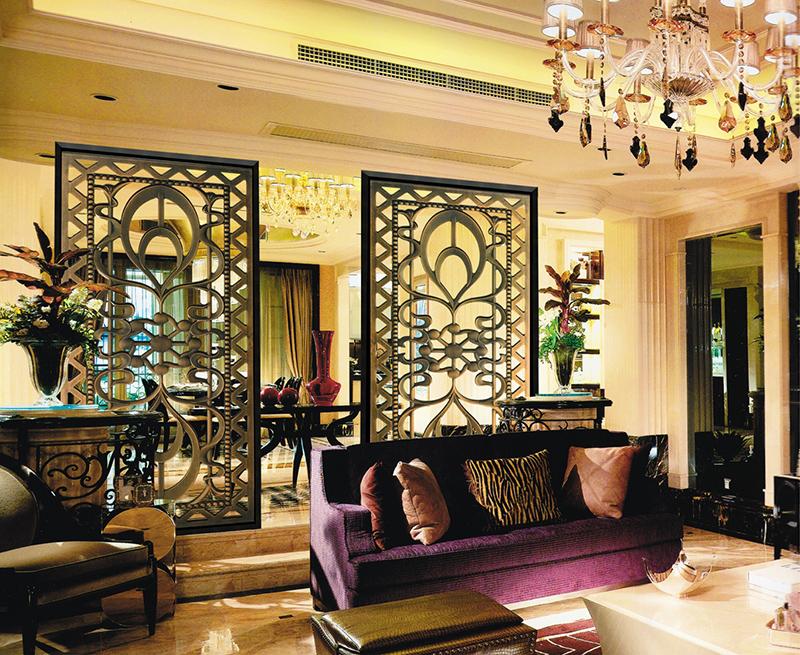 客厅铜屏风
