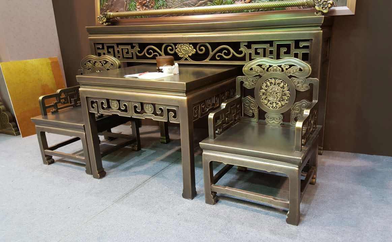 铜桌椅-铜家具