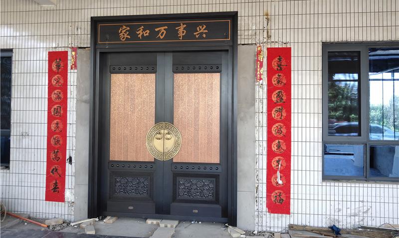 渭南农村自建房庭院铜门案例