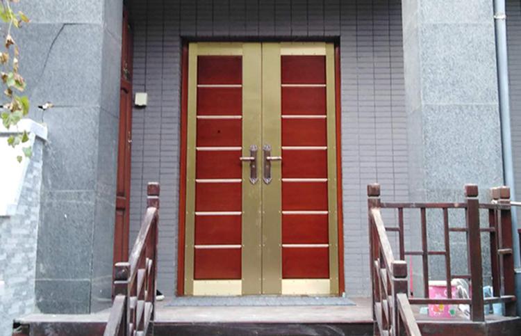 西安曲江别墅入户铜门