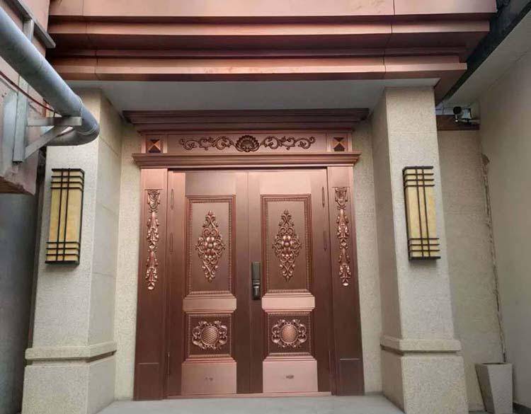 西安地产企业办公室铜门