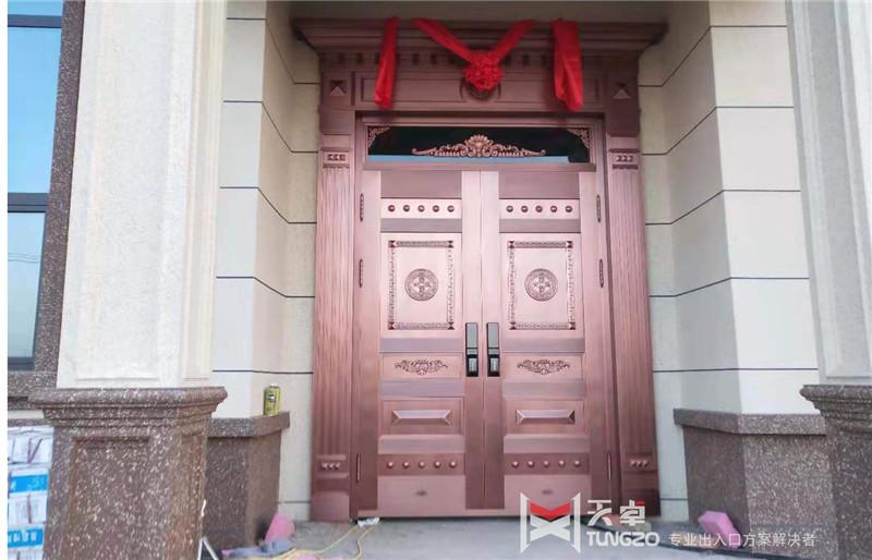陕西临潼家用别墅铜门