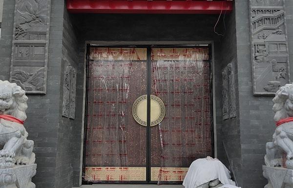 咸阳农村自建房庭院铜门