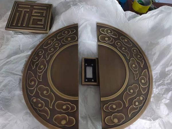 中式半圆铜门拉手,铜门拉手图片