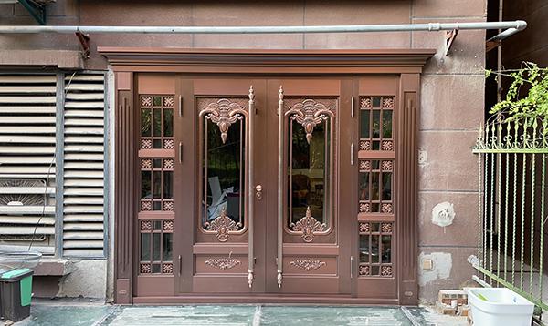 西安风景线小区家用玻璃铜门