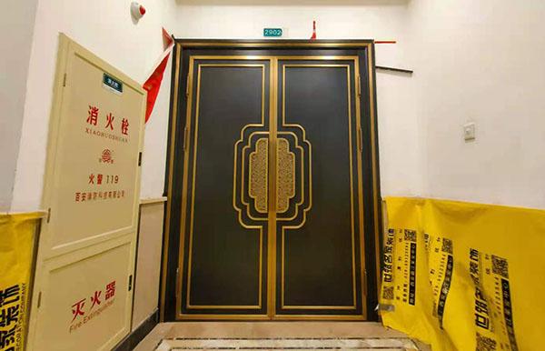 西安雅居乐小区入户铜门